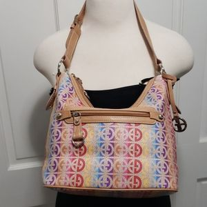 Gianni Bernini hobo style rainbow tan purse